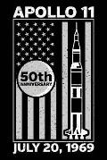 Apollo 11 50th Anniversary: Notebook Journal Moon Landing 6x9