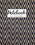 Notebook Chevron Navy Blue and Gold Edition