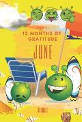 Ready for 12 Months of Gratitude Journal: June Sketch Paper Drawing Notebook for Children