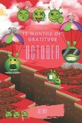 Ready for 12 Months of Gratitude Journal: October Sketch Paper Drawing Notebook for Children