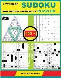 4 Types of Sudoku and Medium Difficulty Puzzles. 400 Collection Puzzles.: Lighthouse Battleship - Yajilin - Calcudoku - Tridoku. Holmes Presents a Sud