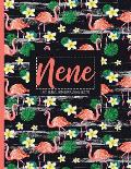 Nene: Black Personalized Lined Journal with Inspirational Quotes