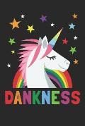 Dankness: Unicorn Cannabis Journal (6x9 Notebook, Diary, Record Keeper, 100 Pages )