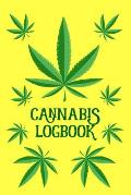 Cannabis Logbook: Review Journal for Medial Marijuana Use and Recreational Tasting ( 6x9 Notebook, Diary, Record Keeper, 100 Pages )
