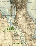 2020 Weekly Planner: South Seattle (1909): Vintage Topo Map Cover