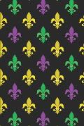 Mardi Gras Pattern - Carnival Decoration 15: Blank Lined Notebook for Mardi Gras and Carnival Lovers