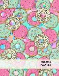 2019-2020 Planner Weekly and Monthly 8.5 X 11: Doughnut Theme Pink Calendar Schedule Organizer and Journal Notebook (January 2019 - December 2020)