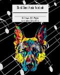 Blank Sheet Music Notebook: Composition Notebook German Shepherd Dog Cover, Music Manuscript Paper, Staff Paper, Musicians Notebook 8 x 10 inches