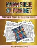 Printable Complex Coloring Pages (Nonsense Alphabet): This Book Has 36 Coloring Sheets That Can Be Used to Color In, Frame, And/Or Meditate Over: This