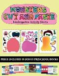 Kindergarten Activity Sheets (20 full-color kindergarten cut and paste activity sheets - Monsters): This book comes with collection of downloadable PD