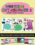 Toddler Scissor Practice (20 full-color kindergarten cut and paste activity sheets - Monsters 2): This book comes with collection of downloadable PDF