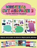 Scissor Skills for Preschool (20 full-color kindergarten cut and paste activity sheets - Monsters 2): This book comes with collection of downloadable