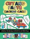 Pre K Printable Worksheets (Cut and paste - Racing Cars): This book comes with collection of downloadable PDF books that will help your child make an