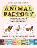 Cut and Paste Craft Worksheets (Animal Factory - Cut and Paste): This book comes with a collection of downloadable PDF books that will help your child