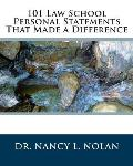 101 Law School Personal Statements That Made a Difference