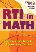 Rti In Math Practical Guidelines For Elementary Teachers