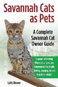 Savannah Cats as Pets: Savannah Cat Breeding, Where to Buy, Types, Care, Temperament, Cost, Health, Showing, Grooming, Diet and Much More Inc