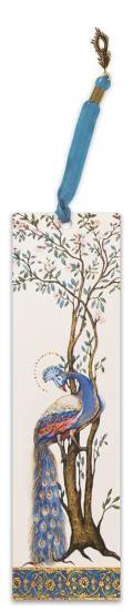 Illuminated Bookmark Esther Scroll-Peacock