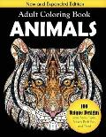 Animals Adult Coloring Book: 100 Unique Designs Including Lions, Bears, Tigers, Snakes, Birds, Fish, and More!