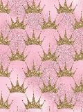 Sketchbook: Pink Glitter Crown Blank Paper for Drawing, Doodling, or Sketching