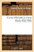 Cause Efficiente Et Cause Finale