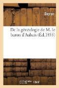 de la G?n?alogie de M. Le Baron d'Aubais