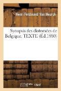 Synopsis des diatom?es de Belgique. TEXTE
