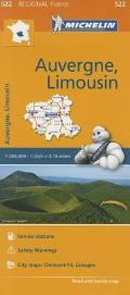 Michelin Regional Maps France Auvergne Limousin Map 522