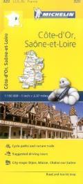 Michelin France Cote dOr Saone Et Loire Map 320