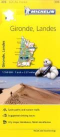 Michelin France Gironde Landes Map 335