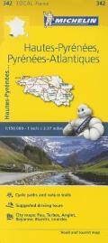 Michelin France Hautes Pyrenees Atlantiques Map 342
