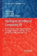 Intelligent Distributed Computing VII: Proceedings of the 7th International Symposium on Intelligent Distributed Computing - IDC 2013, Prague, Czech R