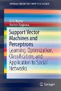 Support Vector Machines and Perceptrons: Learning, Optimization, Classification, and Application to Social Networks