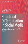 Structural Differentiation in Social Media: Adhocracy, Entropy, and the 1 % Effect