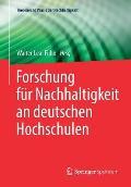 Forschung F?r Nachhaltigkeit an Deutschen Hochschulen