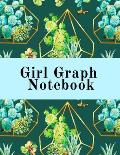Girl Graph Notebook: Squared Coordinate Paper Composition Notepad - Quadrille Paper Book for Math, Graphs, Algebra, Physics & Science Lesso