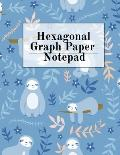Hexagonal Graph Paper Notepad: Hexagon Notebook (.2 per side, small) - Draw, Doodle, Craft, Tilt, Quilt, Video Game & Mosaic Decoration Project Compo