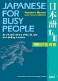 Japanese for Busy People II & III Teachers Manual