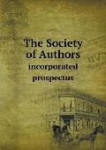 The Society of Authors Incorporated Prospectus