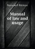 Manual of Law and Usage