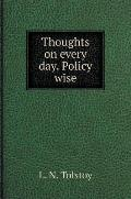 Thoughts on Every Day. Policy Wise