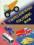 Trucks and Buses Coloring Book
