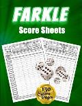 Farkle Score Sheets: 130 Large Score Pads for Scorekeeping - Green Farkle Score Cards - Farkle Score Pads with Size 8.5 x 11 inches (Farkle