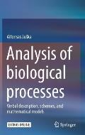 Analysis of Biological Processes: Verbal Description, Schemes, and Mathematical Models