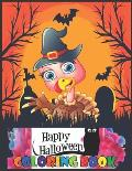 Happy HALLOWEEN: coloring book for kids ages 3-9