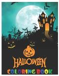 Halloween: coloring book for kids ages 3-9
