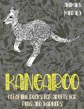 Mandala Coloring Books for Adults for Pens and Markers - Animals - Kangaroo