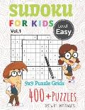 Sudoku For Kids 9x9 Puzzle Grids 400+ Puzzles Easy Level: Introduce Children to Sudoku and Grow Logic Skills With Fun and Relaxing- Your Brain Games &