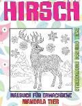 Malbuch f?r Erwachsene - Stressabbau Designs Tiere - Mandala Tier - Hirsch