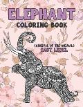 Carnival of The Animals Coloring Book - Easy Level - Elephant